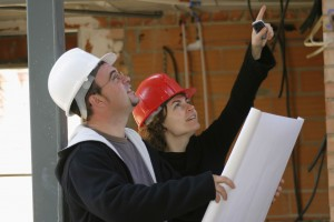 qualified professionals working on a project