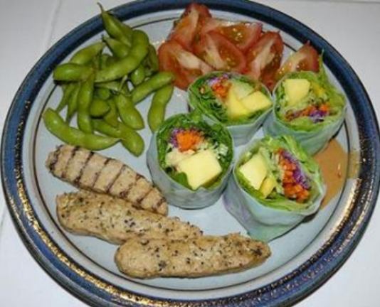 healthy food in a plate