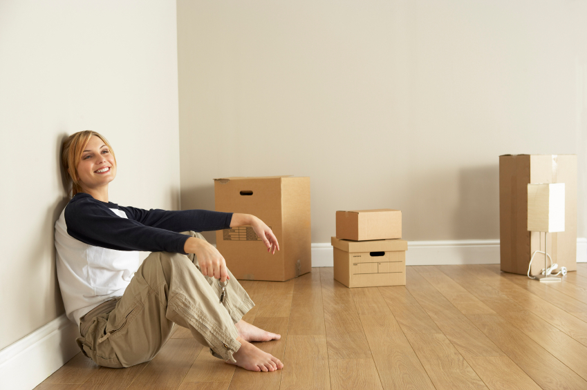 woman moving into a new house
