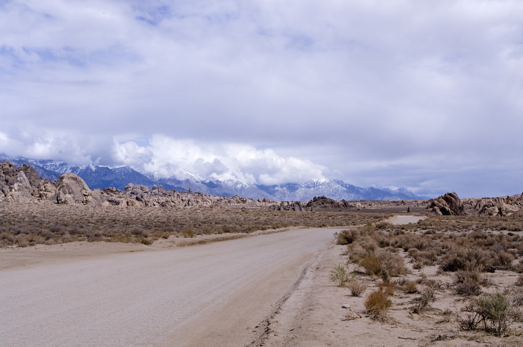 Alabama Hills next to Eastern Sierra Scenic Byway