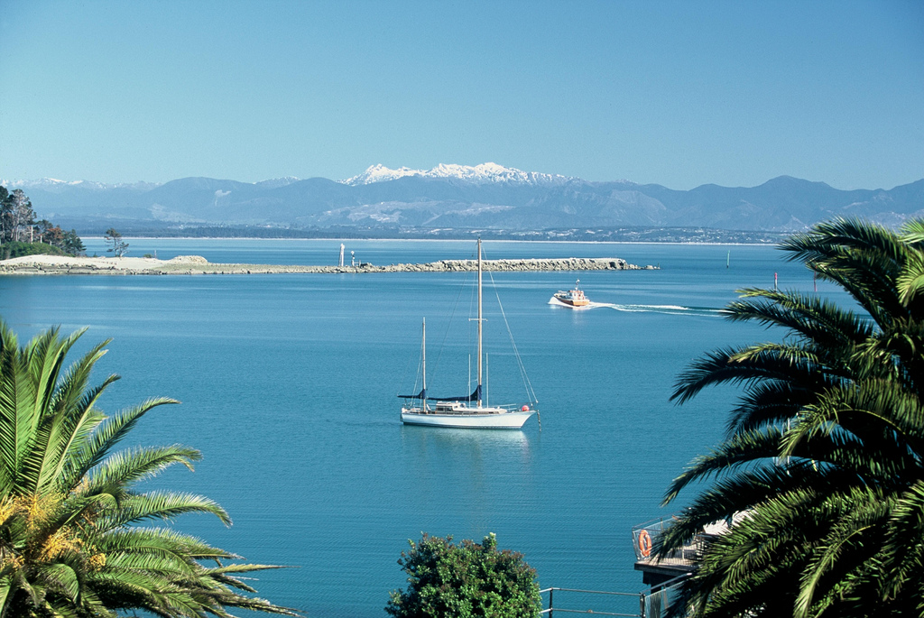Yacht in haven - Nelson, New Zealand