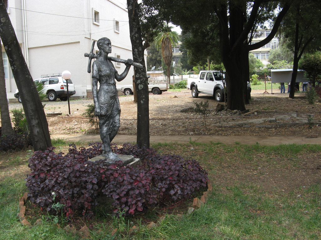 Outside of the Ethiopian National Museum