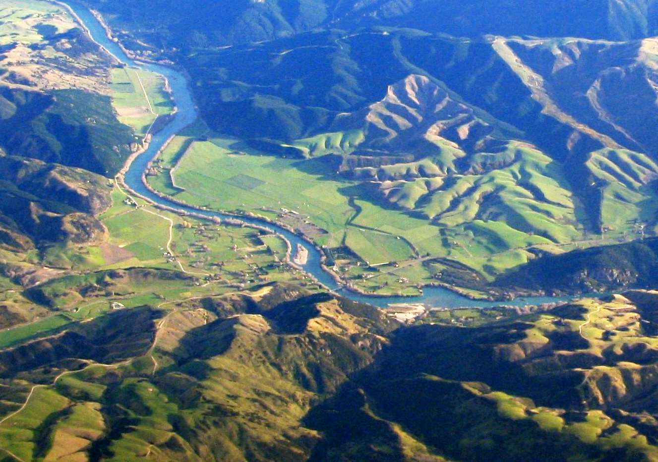 Beaumont, New Zealand aerial photo