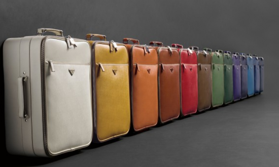 suitcases in various colours