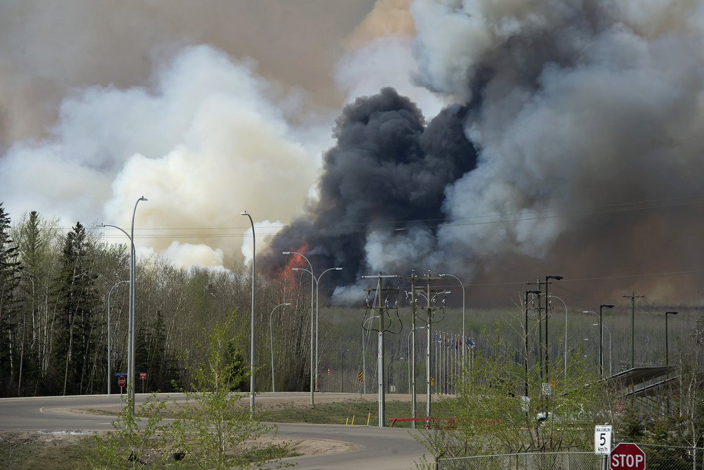 smoke seen in Fort McMurray