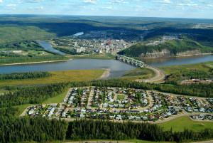 an areal view to Fort McMurray